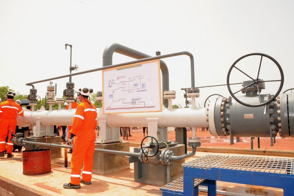 Station de pompage sur le champs pétrolier de Badila au sud du Tchad exploité par Glencore